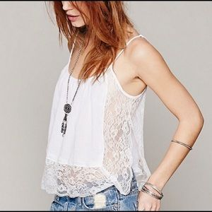 Free People Outskirts Adjustable Lace Cami